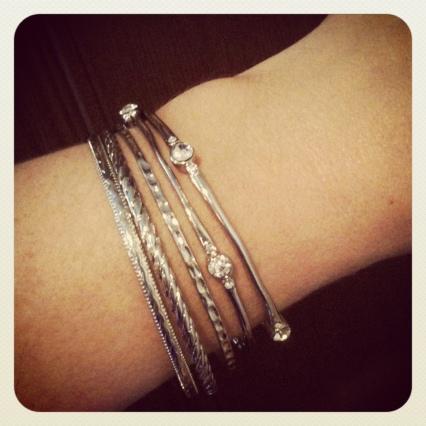 silver bangle bracelets loehmann's mission valley San Diego