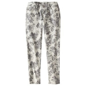 mossimo target floral denim jeans