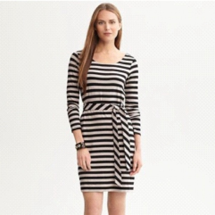 banana republic belted Bridget stripe dress