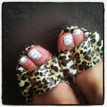 Sally Hansen love letter polish strips with leopard heels
