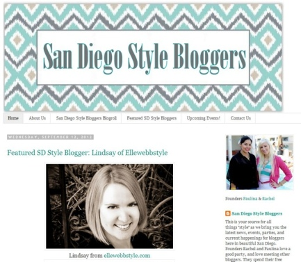 San Diego style<br /><br /> Bloggers featured blogger
