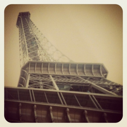vintage Eiffel tower photo