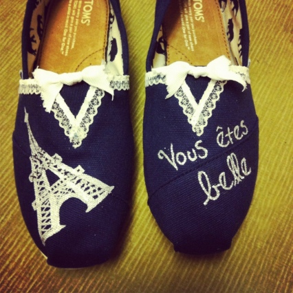 Eiffel tower toms with lace etsy