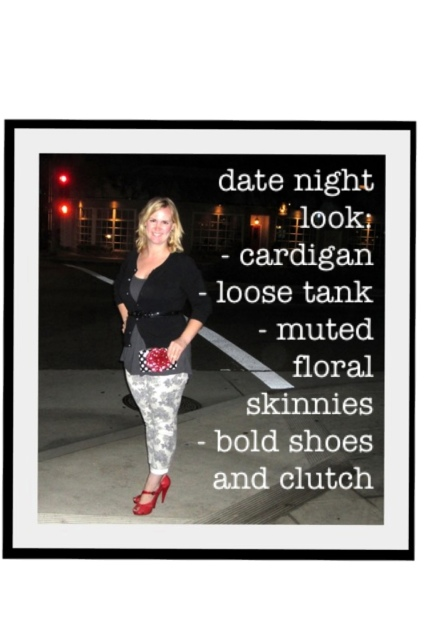 target floral skinny Jean what to wear for date night