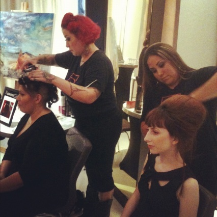 bellus academy stylists at w hotel