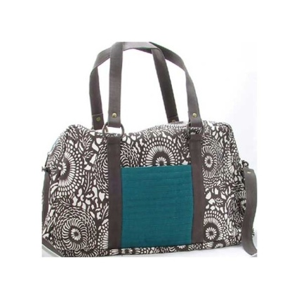 vava vida teal dahlia travel bag