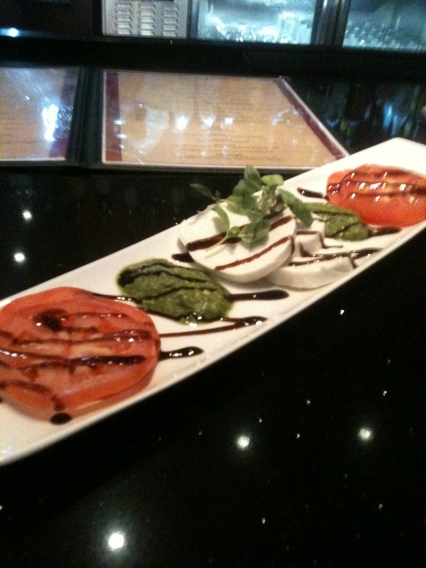 caprese salad at arclight, utc in la jolla