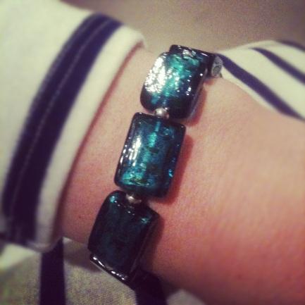vava vida turquoise murano bracelet