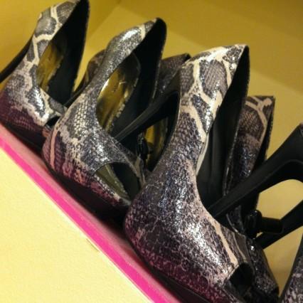 snakeskin heels at iheartshimmer.com