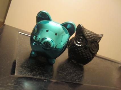 blue metallic pig coin back 99 cent only store