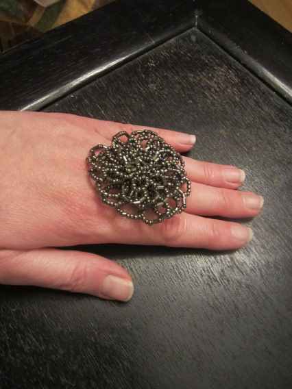silver beaded ring 99 cents only store