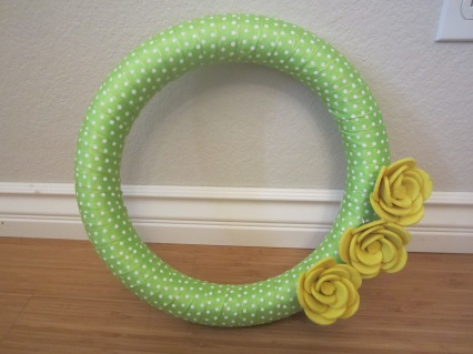 summer door wreath diy michaels green and gold baylor