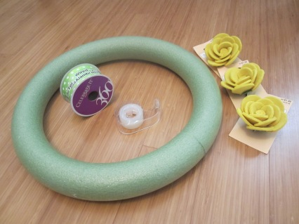 summer wreath diy michaels green and gold baylor