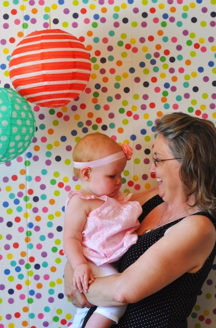 rainbow kids party birthday photo booth backdrop polka dot